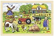 Пазл деревянный goki «Ферма мистера Миллера», 57891G
