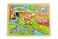 Пазл деревянный goki «Жизнь на ферме», 57745, фото