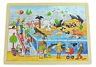 Пазл деревянный goki «Водный мир», 57744, отзывы