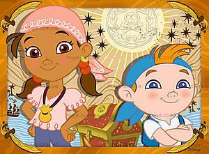 Пазл детский Ravensburger Disney «Джейк и пираты Нетландии» 4в1, 07286R, фото