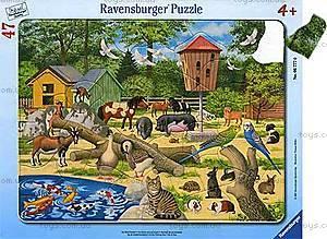 Пазл детский Ravensburger Disney «Домашние животные» в рамке , 06777R, фото