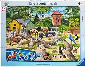 Пазл детский Ravensburger Disney «Домашние животные» в рамке , 06777R