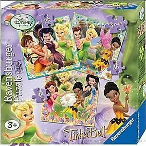 Пазл детский Ravensburger Disney «Феи» 3в1, 07193R