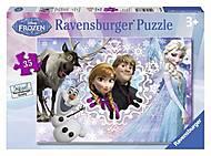 Пазл детский Ravensburger Disney «Холодное сердце» в рамке , 08766R, фото