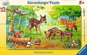 Пазл детский Ravensburger Disney «Лесные малыши» в рамке , 06376R