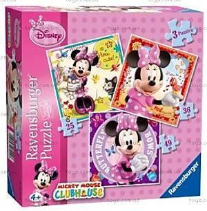 Пазл детский Ravensburger Disney «Минни Маус» 3в1, 07244R