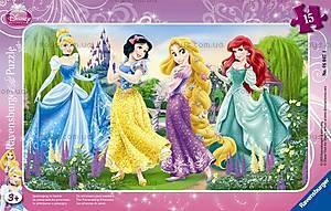 Пазл детский Ravensburger Disney «Принцессы на прогулке» в рамке , 06047R