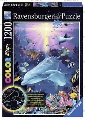 Пазл детский Ravensburger «Очаровательные дельфины» светящийся, 16184, купить