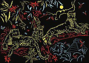 Пазл Ravensburger «Золотой леопард», светящийся, 16183, фото