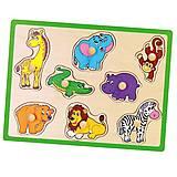 Пазл детский Viga Toys «Дикие животные», 50019, фото