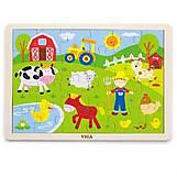 Пазл детский Viga Toys «Ферма», 50197, фото