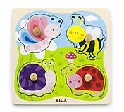 Пазл детский Viga Toys «Насекомые», 50131