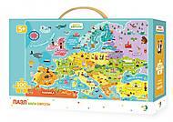 Пазл «Карта Европы», 300129, фото
