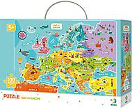Пазл «Карта Европы» на английском языке, 300124, отзывы