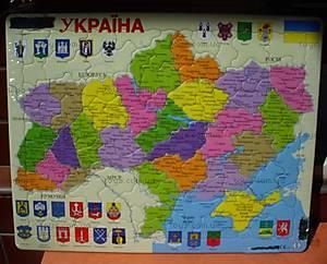 Пазл «Карта Украины», 1*/2*