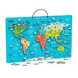 """Пазл магнитный """"Карта мира с маркерной доской"""", 44508, детские игрушки"""