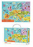 Пазл Карта Европы на украинском языке (100 элементов), 300129