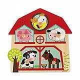 Пазл музыкальный Janod «Мои друзья с фермы», J07079, купить