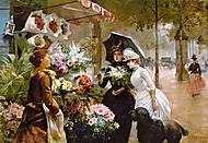 Пазл на 1000 деталей «Цветочный стенд в Париже», С-102921, фото