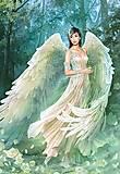 Пазл на 1000 деталей «Девушка с белыми крыльями», С-101870, фото