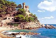 Пазл на 1000 деталей «Крепость Lloret de Mar, Испания», С-100774, купить
