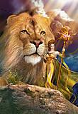 Пазл на 1000 деталей «Лев и женщина, фэнтези», С-102044, фото