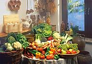 Пазл на 1000 деталей «Натюрморт Фрукты и овощи», С-102341, купить