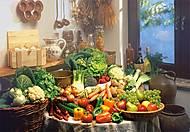 Пазл на 1000 деталей «Натюрморт Фрукты и овощи», С-102341, фото