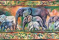 Пазл на 1000 деталей «Парад слонов», С-102747, фото