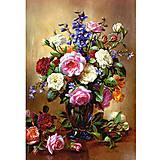 Пазл на 1000 деталей «Розы в голубой вазе», С-102617, отзывы
