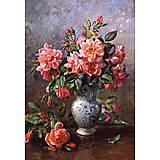 Пазл на 1000 деталей «Розы в китайской вазе», С-102624