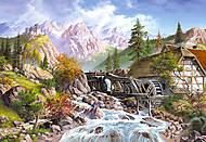 Пазл на 1000 деталей «Водяная мельница», С-101634