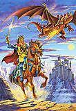 Пазл на 120 деталей MIDI «Бой с драконом», B-12503, отзывы