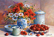Пазл на 1500 деталей «Цветы и вишня, Триша Хардвик», C-150786, фото