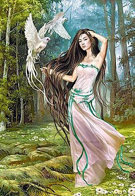 Пазл на 1500 деталей «Девушка с птицами», C-150687