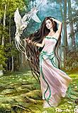 Пазл на 1500 деталей «Девушка с птицами», C-150687, фото
