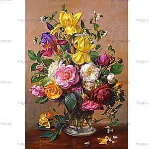 Пазл на 1500 деталей «Летние цветы в стеклянной вазе», C-151028