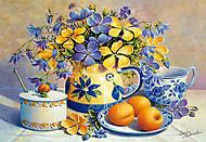 Пазл на 1500 деталей «Натюрморт с абрикосами», C-150793, фото