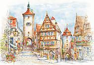 Пазл на 1500 деталей «Ротенбург-об-дер-Таубер, Бавария», C-151059