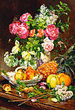 Пазл на 1500 деталей «Розы в вазе», C-151202, фото