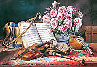 Пазл на 2000 деталей «Натюрморт с нотами», C-200160, отзывы