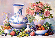 Пазл на 2000 деталей «Натюрморт с вазами», C-200320, фото