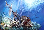 Пазл на 2000 деталей «Поражённый галеон», C-200252