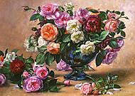 Пазл на 2000 деталей «Розы», C-200412