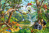 Пазл на 2000 деталей «Скрытая жизнь джунглей», C-200375