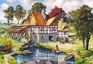 Пазл на 2000 деталей «Водяная мельница», C-200498