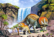 Пазл на 260 деталей «Динозавры у водопада», B-26593