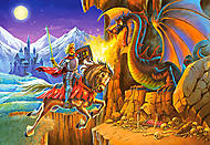 Пазл на 260 деталей «Рыцарь против Дракона», B-26753, фото