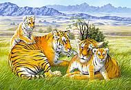 Пазл на 260 деталей «Семейство тигров», B-26722