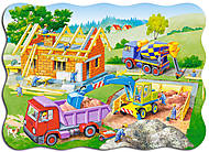 Пазл на 30 деталей «Строим дом», B-03198, фото